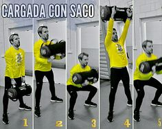 Squat con cargada al hombro + Press
