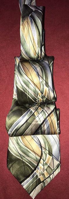 J Garcia Art Deco Silk Necktie Tie Emerald City Collection Fifty Three  #JerryGarcia #Tie