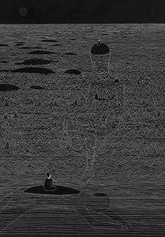 [看看]韩国插画师Daehyun Kim:黑白世界的梦境与呓语 -- 插画师 -- 传送门