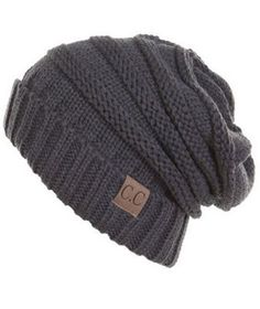 Unisex Soft Stretch Oversized Knit Slouchy Beanie (Melange Grey) – Niobe Clothing
