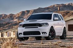 The long rumoured Dodge Durango SRT has made its official debut ahead of this year's Chicago motor show. With a Hemi producing of power at and at Dodge claim . Dodge Suv, 2018 Dodge, Dodge Trucks, Dodge Durango, Best Midsize Suv, Best Compact Suv, Toyota Rav4 Hybrid, Suv Comparison, Suv Models