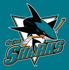 Sharks Sports Team Logo | San Jose Sharks Alternate Logo (2008) - Full-body shark chomping stick ...