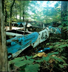 Petty race car graveyard. These should be put under a roof!