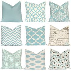 Pillow Cover, Decorative Pillow, Blue Pillow Shams, Toss Pillow, Accent Pillow, Pillow Covers, Village Blue Pillows Various Sizes