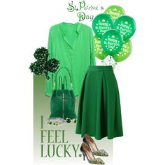 Top of the morning to you!! Irish or not:) by musicfriend1 on Polyvore featuring polyvore, fashion, style, Chicwish, Lanvin, Elizabeth and James and David Yurman