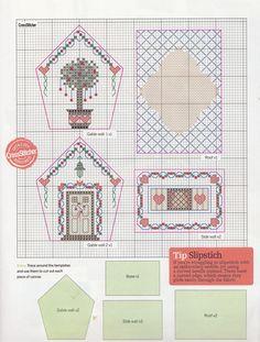 nattys cross stitch corner - Christmas cottage Pt 2