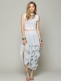Free People 5 Layer Maxi Skirt