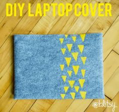Create your own laptop/tablet felt cover and design your own pattern with a Plaid Stencil Cutter!