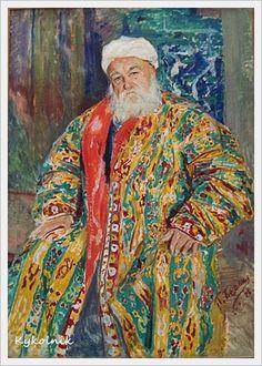 Беньков Павел Петрович (Россия-Узбекистан, 1879-1949) «Эмирский сановник» 1929 (3) (373x522, 207Kb)
