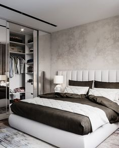 Nightstands beds side tables cabinets or armchairs are some of the luxury bedroom furniture tips that you can find. Every detail matters when we are decorating our master bedroom right? Modern Bedroom Design, Master Bedroom Design, Home Bedroom, Bedroom Decor, Le Logis, Luxury Bedroom Furniture, Trendy Bedroom, Dream Rooms, Luxurious Bedrooms
