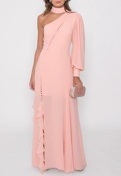 Vestido Sweet longo Fabulous Agilitá rosa - powerlook-V-MOB Weeding Dresses, Formal Dresses, Ideias Fashion, Party Dress, Wedding, Inspiration, Style, Low Cut Dresses, Blouses