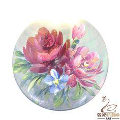 Flower Pendant Hand Painted Peony Black Lip Shell  Multi Color ZL301803 #ZL #Pendant