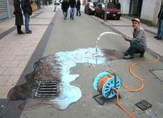 3D Chalk Drawings