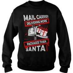 Awesome Tee Mail Carrier  I Deliver More Packages Than Santa T-Shirts