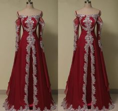 c73d1ce984d15 Arabic Long Sleeve Evening Prom Dress Muslim Beaded Wedding Party Prom Ball  Gown