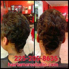 #newhair #newhaircut #haircut #hair #hairstudio #salon #cute #newhaircut  #shorthair #shorthairdontcare #cute  #labordayweekend #hairtamersstudio #clippergame #trending #trend #sewinweaves #shortweaves 225-205-8635 hairtamersstudio.com