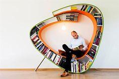 ¿Pondrías esta biblioteca circular en tu casa? | ESPACIO LIVING