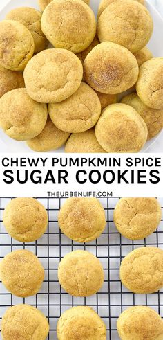 Vegan Pumpkin Spice Sugar Cookies are perfect for fall with their chewy centers and perfectly crisp edges. They resemble a snickerdoodle cookie with their cinnamon sugar coating Easy Vegan Dinner, Vegan Dinner Recipes, Vegan Breakfast Recipes, Delicious Recipes, Vegetarian Recipes, Egg Free Recipes, No Dairy Recipes, Sweets Recipes, Easy Recipes