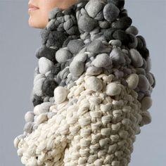 3D Textiles - pebble textures & chunky knit; textile design for fashion