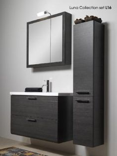 Need help picking the right black bathroom vanity? Photos of black bathroom vanities, black bathroom vanity design ideas for helpful how-to articles and more. Home Depot Bathroom Vanity, Small Bathroom Furniture, Black Vanity Bathroom, Bathroom Vanity Designs, Small Bathroom Vanities, Bathroom Wall Decor, Bathroom Storage, Bathroom Interior, Bathroom Cabinets