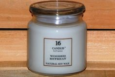 16 Candles by J.P. Lawrence - Wooded Retreat. Fresh Evergreens with an added touch of the outdoors. Made with 100% soy vegetable wax.