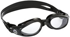 AQUA SPHERE Kaiman Regular Fit Goggles Clear LensBlack Frame *** Be sure to check out this awesome product.Note:It is affiliate link to Amazon.