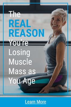 The Real Reason You're Losing Muscle Mass as You Age Health And Fitness Articles, Health And Nutrition, Health Tips, Wellness Fitness, Fitness Diet, Health Fitness, Health And Wellbeing, Health Benefits, Fitness Workout For Women