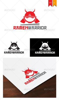 Ramen Warior Logo for your Culinary business, noodle, ramen or anything where culinary need.