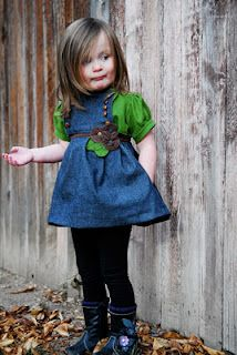 If I ever decide to be awesome and sew clothes for my kids, I need look no further than this blog.