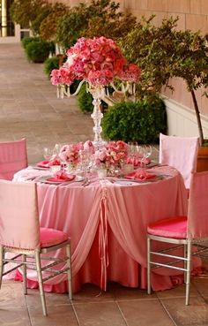 wedding reception garden wedding theme pink table setting