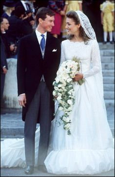 Wedding of Prince Guillaume of Luxembourg and Sibilla Weiller In Versailles, France on 24 Sep 1994