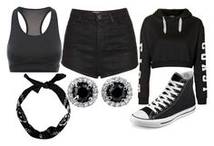 """Daughter of Hades Training"" by elli-jane-xox ❤ liked on Polyvore featuring Topshop, Converse and NIKE"