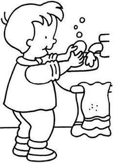 the Importance of Washing Hand Coloring Pages