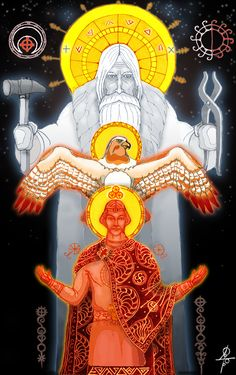 "#Svarog, #slavic_gods, #mythology  ""Svarog and Svarožič"" http://vesemir.blogspot.ru/2012/07/blog-post_20.html"