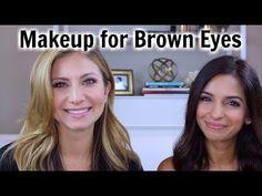Beginner Eye Makeup Tips & Tricks Brown Smokey Eye Makeup, Gold Smokey Eye, Makeup For Brown Eyes, Glitter Eye Makeup, Eye Makeup Tips, Contour Makeup, Makeup Videos, Beauty Makeup, Brown Eye Makeup Tutorial