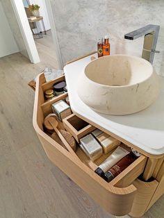 Mueble de lavabo robusto con cajones