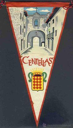 Banderí de Centelles on surt el Portal. Centelles. Foto extreta de www.todocoleccion.net