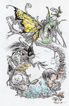Take It Back Fairy Fantasy Drawing by thehauntedstudio on Etsy, $15.00