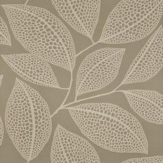 Pebble Leaf Cream Wallpaper | Grey Wallpaper | Wallpaper Online