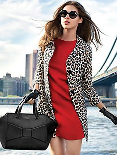 Kate Spade Fall 2013 - that leopard coat!!