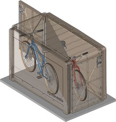 Nice CycleSafe ProPark Is Our Flagship Bike Locker Series, Offering The Most  Space Efficient And Durable Bike Storage Lockers On The Market.