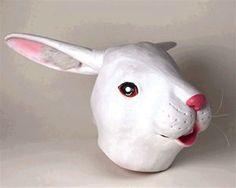 Rabbit Deluxe Latex Mask - 324684 | trendyhalloween.com