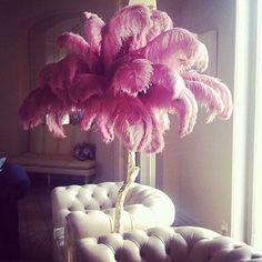 Feather trees in the living room! Because who can remember to water the fern? #wsthescoop