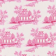 Tilda Country Escape Fabric - China Pink - Tilda Crafts - Sewing, Quilting and Needlecraft Stitch Craft Create craft supplies