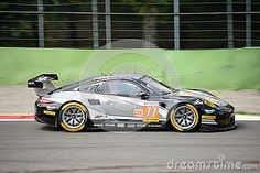 Proton Competition team brings his Porsche 911 RSR 991 on track at the Monza Circuit.  This german supercar competes in the 2017 European Le Mans Series, driven by Christian Ried, Joël Camathias and Matteo Cairoli.