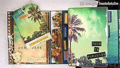 Reise-Album / Travel Album Summer Paradise, Tropical, Beach, Books, Art, Vacation, Viajes, Projects, Crafting