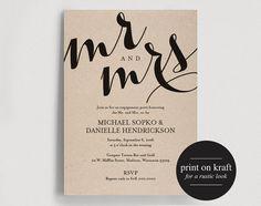 Engagement Party Invitation Engagement by BlissPaperBoutique