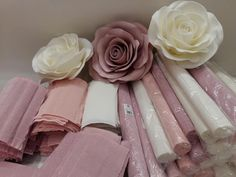Hey guys I just finished making my paper flower rose tutorial using my LARGE Rose center then with my new template 155 I only had a half… Paper Flowers Craft, How To Make Paper Flowers, Large Paper Flowers, Paper Flowers Wedding, Paper Flower Wall, Paper Flower Backdrop, Flower Wall Decor, Paper Roses, Flower Crafts