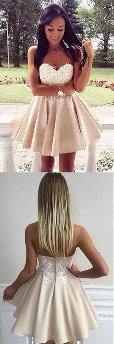 2018 Prom Dresses #2018PromDresses, Prom Dresses Lace #PromDressesLace, Cute Prom Dresses #CutePromDresses, Prom Dresses Short #PromDressesShort