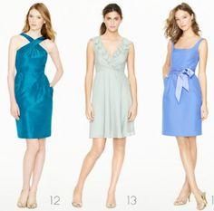 Vestidos cortos para dama de honor en color azul cielo - Foto: J.Crew Bridesmaid Collection